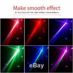 12 LEDs RGBW Double Moving Head Stage Light DMX Beam Effect Disco Light DJ Party