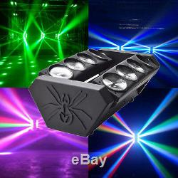 120W RGBW Spider LED Moving Head Stage Lighting DMX Disco DJ Party Effect Lights