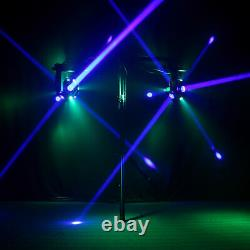 120W Stage Lighting 4 in 1 RGBW LED Beam DMX Sound Moving Head Rotating Cube
