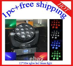1210W RGBW 4 in 1 Led Beam Moving Head DJ Stage Wash Light 1pc Free Shipping