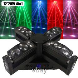 1220W RGBW 4 in1 Led Beam Moving Head Stage Light DMX 15/27/60CH 540° Scan NEW