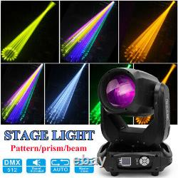 16+8 Pattern Prism Beam LED Moving Head Light DMX LCD Disco DJ Party Stage Light