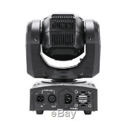 2 PACK 70W RGBW LED Moving Head Stage Light DJ 8 Pattern Party Gobo Lighting UK