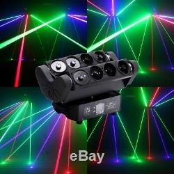 200W RGB Spider Laser Beam Moving Head Stage Lights DMX Disco DJ Bar Party Light