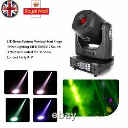 200W RGBW LED Moving Head GOBO Stage Light 14CH DMX512 Sound Activate DJ Concert