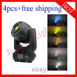 230W Led Beam Spot Wash 3 in 1 Moving Head DJ Stage Light 4pcs Free Shipping