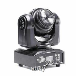 2PCS 100W LED DMX Moving Head Stage Lighting Double Sides DJ Disco Party Lights