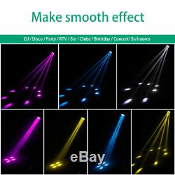 2PCS 150W WYBP 4 LED Beam Moving Head DMX Stage Lighting Show Concert High Power