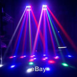 2PCS 4-in-1 RGBW LED Spider Beam Light Moving Head Stage Light with Signal Line