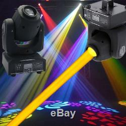 2PCS 60W Stage Lighting Spot GOBO RGBW LED Moving Head DMX Disco DJ Party Lights