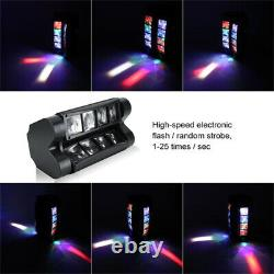 2PCS 80W 8 LED Spider Moving Head Beam RGBW LED Stage Lighting DMX Disco Party