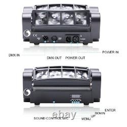 2PCS 80W 8 LED Spider Moving Head Beam RGBW LED Stage Lighting DMX Disco Party A