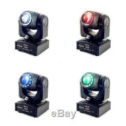 2PCS 80W LED RGBW Moving Head Light DJ Home Party Spot Beam Stage Lighting Disco