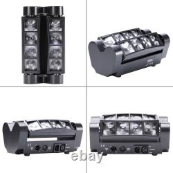 2PCS 80W RGBW LED Spider Moving Head Stage Lighting 7/13CH DMX for Disco Party