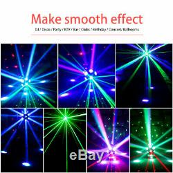 2PCS RGBW 12 LED RG Laser Moving Double Heads Stage Lighting DMX DJ Show Concert