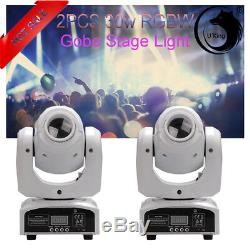 2PCS Stage Lighting U`king RGBW LED Gobo Beam Moving Head DJ Party Disco Light