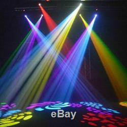 2PCS U`King 60W RGBW Spot LED Moving Head Gobos Stage Light DMX512 DJ Club Party