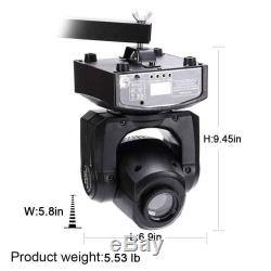 2PCS U`King 60W RGBW Spot LED Moving Head Gobos Stage Light DMX512 Disco Party