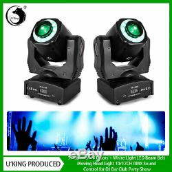 2PCS U`king 100W Stage Light Patterns Beam LED Moving Head DMX DJ Bar Party Show