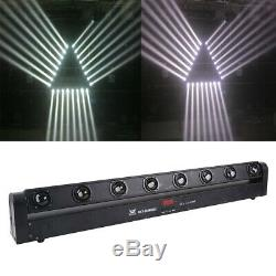 2Pcs 100W RGBW 4in1 8LED Bar Beam Moving Head Light DMX512 DJ Stage Color Mixing