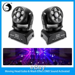 2X 100W LED DJ Stage Lighting Gobo & Wash 2in1 Moving Head RGBW DMX Party Show
