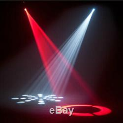 2X 30W Spotlight GOBO LED RGBW Moving Head Stage Lighting DMX Club Party Pinspot