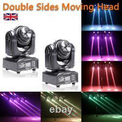 2X 70W Stage Lighting LED Double Sides Beam Moving Head DMX Disco DJ Party Light