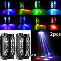 2X 80W 8LEDs Spider Moving Head Stage Lighting LED DMX Party DJ Disco Shows Ligh