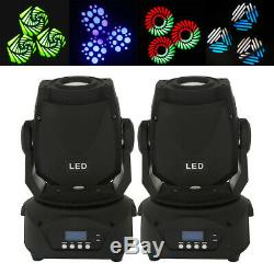 2pcs Moving Head Light, DMX 512 Sound Activated 4 Modes Stage Lighting for DJ