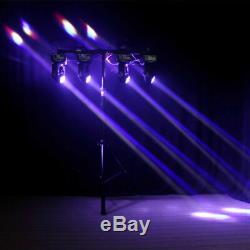 2x 100W Stage Lighting LED DMX Moving Head Double Sides DJ Disco Party Light UK
