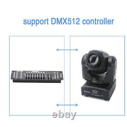 2x 50W LED Stage Lighting Gobo Pattern Black Moving Head Remote DMX Disco Party