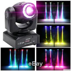 2x 80W Spot LED RGBW Stage Lighting Moving Head DMX Disco DJ Party Sound Activat