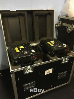 2x low hour MAC 600 with FLIGHTCASE! Stage Lighting Moving Head Light VAT INC