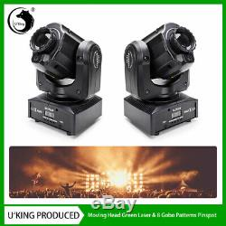 2xU`King 60W Gobo Laser Moving Head LED Stage Light DMX Party DJ Show Disco KTV