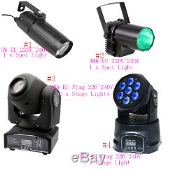 3/12/100W Stage Light LED Spot Moving Head Lights Disco DJ Party Lighting BT