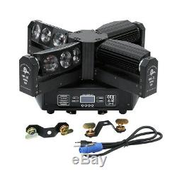300W 12LEDs RGBW 4IN1 Spider Moving Heads Stage Light DMX512 For Party Strobe DJ