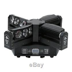 300W 12LEDs Spider Moving Head Light RGBW 4IN1 Beam DMX Stage Disco DJ Lighting