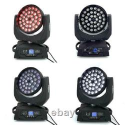 36X18W Zoom Led Moving Head Light 6In1Rgbwa Uv 6In1 High Quality Stage Led Dj L