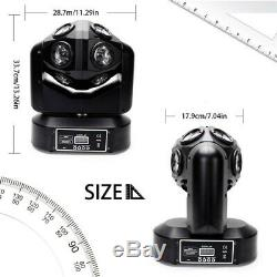 4-In-1 LED Beam Moving Head Stage Light RGBW DMX Disco Party DJ Lights 6/8CH New
