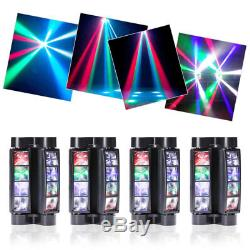 4PC 100W Spider Moving Head Stage Lighting RGBW LED Beam DJ Disco Party Light
