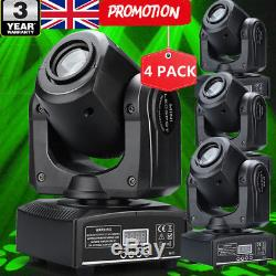4PCS 30W Stage Lighting Spot GOBO RGBW LED Moving Head DMX512 Disco Party Lights