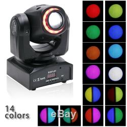 4PCS 80W LED RGBW Moving Head Light DJ Party 8Pattern Gobo Stage Lighting Disco