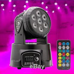 4PCS RGBW 70W LED Moving Head Stage Lighting DMX-512 DJ Disco Party Light+Remote