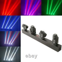 4Pcs 1500W 4IN1 Moving Head Lights RGBW LED Stage Light Beams Rotating DMX-512