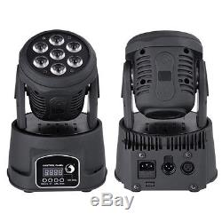 4Pcs 70W RGBW 7-LED 4-in1 Wash Moving Head Light DMX Stage Light DJ Party Lights