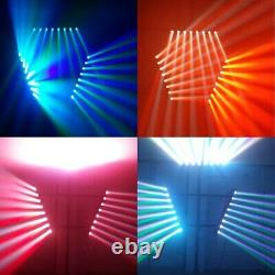 4Pcs Moving Head Stage Light LED DMX512 RGBW 4IN1 100W Beam Effect Sound Active