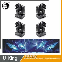 4X U`King LED 60W Gobo Laser Moving Head Light DMX Party DJ Disco Stage Lighting
