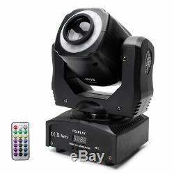 4x 100W Moving Head Stage Lighting Gobo RGBW LED DMX Spot Party Disco +Remote