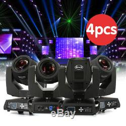 4x 230W 8 Prism 7R Stage Lighting Spot Moving Head DMX DJ Party Show Gobos Light