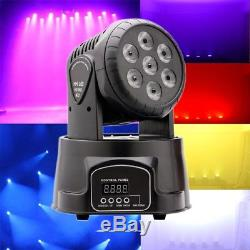 4x 70W RGBW LED Beam Moving Head Stage Lighting DMX512 for Party DJ Disco Party
